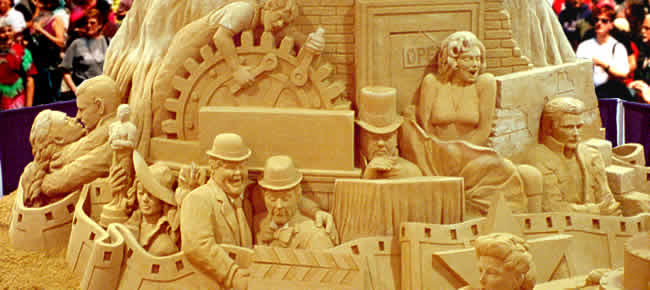 Golden Age of Hollywood Sand Sculpture
